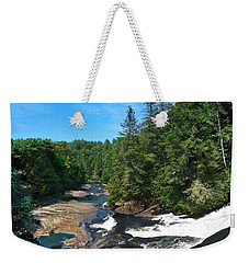 Triple Falls North Carolina Weekender Tote Bag by Steve Karol