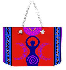 Weekender Tote Bag featuring the digital art Triple Goddess by Vagabond Folk Art - Virginia Vivier