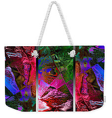 Triptych Chic Weekender Tote Bag