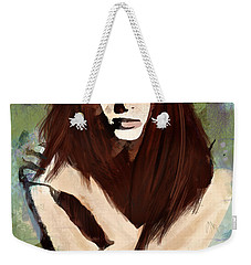 Weekender Tote Bag featuring the digital art Tristesse by Galen Valle