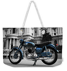 Triumph Thunderbird At St Pauls Cathedral Weekender Tote Bag by Mark Rogan