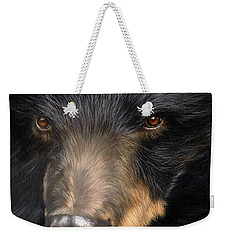 Trixie Moon Bear - In Support Of Animals Asia Weekender Tote Bag by David Stribbling