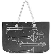 Trombone Design Weekender Tote Bag by Dan Sproul
