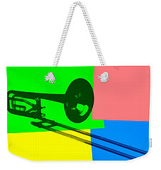 Trombone Pop Art Weekender Tote Bag by Dan Sproul