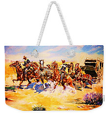 Troopers Stopping A Runaway Coach Weekender Tote Bag