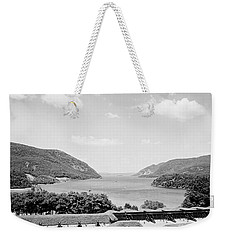 Trophy Point North Fro West Point In Black And White Weekender Tote Bag