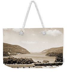 Trophy Point North Fro West Point In Sepia Tone Weekender Tote Bag