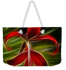 Tropical Abstract Weekender Tote Bag by Vivian Christopher