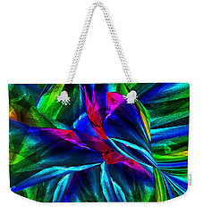 Tropical Bird Sits On A Tropical Tree Weekender Tote Bag by Klara Acel