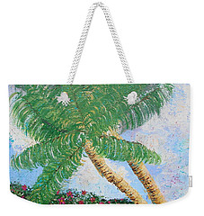 Weekender Tote Bag featuring the painting Tropical Flair by Margaret Bobb