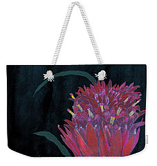 Weekender Tote Bag featuring the mixed media Tropical Flower by C Sitton