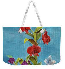Weekender Tote Bag featuring the painting Tropical Flower by Thomas J Herring