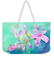 Weekender Tote Bag featuring the painting Tropical Flowers by C Sitton