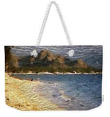 Weekender Tote Bag featuring the digital art Tropical Getaway by Anthony Fishburne