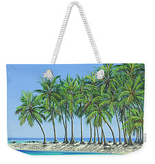 Weekender Tote Bag featuring the painting Tropical Lagoon by Jane Girardot