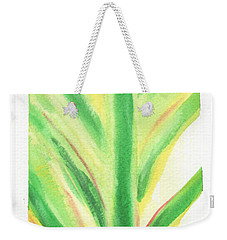 Weekender Tote Bag featuring the painting Tropical Leaf by C Sitton