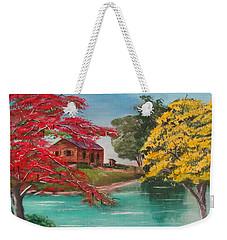 Tropical Lifestyle Weekender Tote Bag
