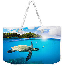 Tropical Paradise Weekender Tote Bag by Nicklas Gustafsson