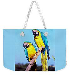 Tropical Parrots In San Francisco Weekender Tote Bag