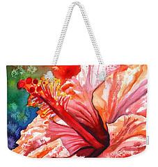 Tropical Pink Hibiscus Weekender Tote Bag