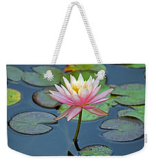 Tropical Pink Lily Weekender Tote Bag by Cynthia Guinn