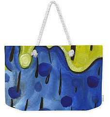 Weekender Tote Bag featuring the painting Tropical Rain by Stephen Lucas