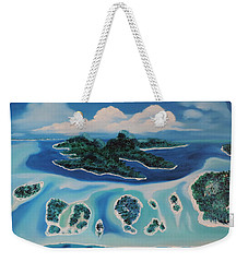 Weekender Tote Bag featuring the painting Tropical Skies by Dianna Lewis