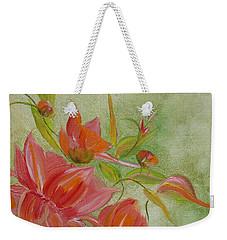 Weekender Tote Bag featuring the painting Tropical Splash by Judith Rhue