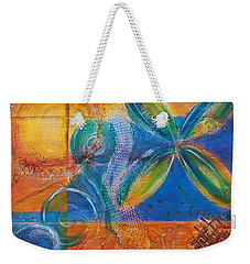 Weekender Tote Bag featuring the painting Tropical Sun by Jocelyn Friis