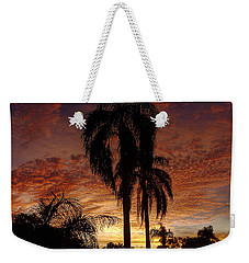 Tropical Sunset Weekender Tote Bag by Kandy Hurley