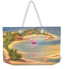 Tropical Windy Island Paradise Weekender Tote Bag