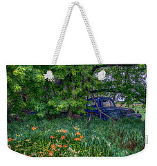 Truck In The Forest Weekender Tote Bag