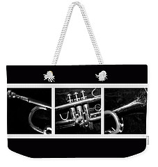 Trumpet Triptych Weekender Tote Bag by Photographic Arts And Design Studio