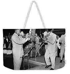 Trumpeter Louis Armstrong Weekender Tote Bag by Underwood Archives
