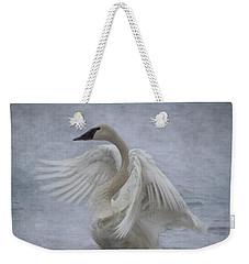Trumpeter Swan - Misty Display Weekender Tote Bag