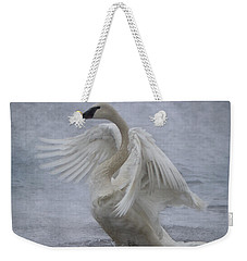 Trumpeter Swan - Misty Display Weekender Tote Bag