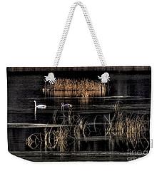 Trumpeter Swans A Swimming Weekender Tote Bag