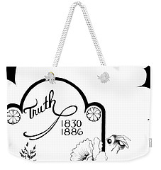 Weekender Tote Bag featuring the digital art Truth Time by Carol Jacobs