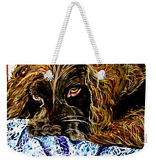 Trying To Sleep Here Weekender Tote Bag