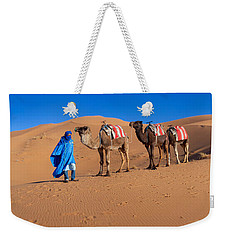 Tuareg Man Leading Camel Train Weekender Tote Bag by Panoramic Images