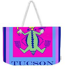 Weekender Tote Bag featuring the digital art Tucson Arizona Shaman by Vagabond Folk Art - Virginia Vivier