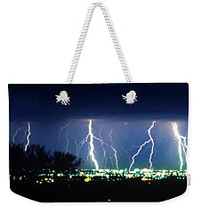 Weekender Tote Bag featuring the photograph Tucson Panoramic by J L Woody Wooden