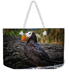 Tufted Puffin Weekender Tote Bag by Mark Kiver
