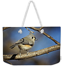 Tufted Titmouse - 1 Weekender Tote Bag by Lana Trussell