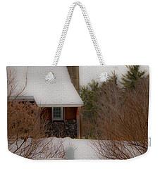 Tuftonboro Barn In Winter Weekender Tote Bag