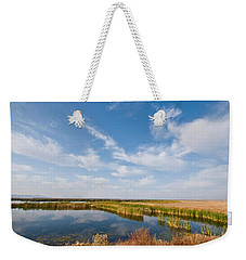 Weekender Tote Bag featuring the photograph Tule Lake Marshland by Jeff Goulden