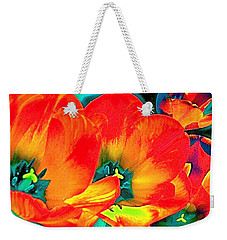 Weekender Tote Bag featuring the photograph Tulip 1 by Pamela Cooper