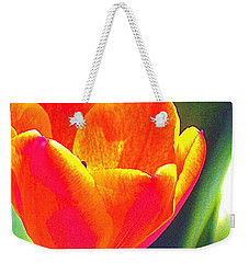 Weekender Tote Bag featuring the photograph Tulip 2 by Pamela Cooper