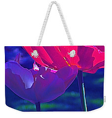 Weekender Tote Bag featuring the photograph Tulip 3 by Pamela Cooper