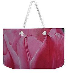 Tulip Blooming Weekender Tote Bag by Claudia Goodell